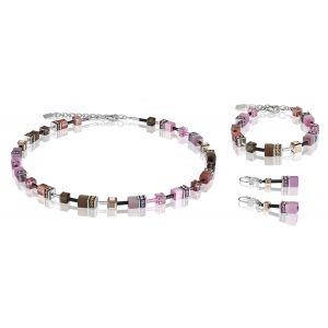 Coeur De Lion Brown Rose GEOCUBE Pierced Earrings 2838201119