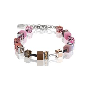Coeur De Lion Brown Rose GEOCUBE Pierced Bracelet