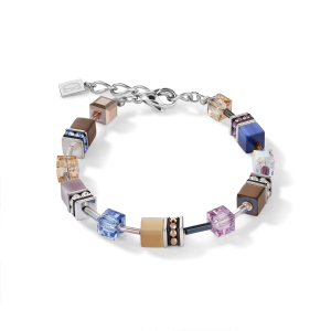 Coeur De Lion GeoCUBE Bracelet - Blue Brown Lilac 2839300740