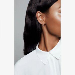 Pandora Rose Pave Bead Hoop Earrings 288294cz