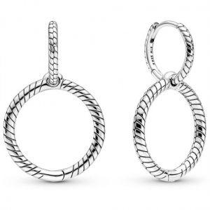 Pandora Moments Charm Double Hoop Earrings-299562C00