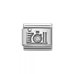 Nomination Classic 925 Silver and Zirconia Camera Charm