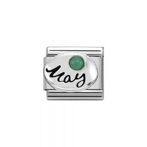 Nomination Classic Sterling Silver May Emerald Birthstone Charm 330505_05