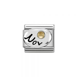 Nomination Classic Sterling Silver November Citrine Birthstone Charm 330505_11