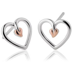 Clogau Tree of Life Heart Stud Earrings