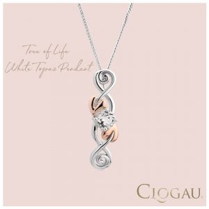 Clogau Tree Of Life White Topaz Pendant 3STOLQP