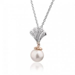 Clogau Windsor Two Colour Pearl and White Topaz Pendant - 3SWNPP