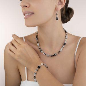 Coeur De Lion GeoCUBE Earrings - Haematite 4014201412