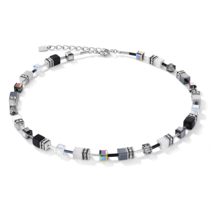 Coeur De Lion GEOCUBE Necklace - Black and White 4014101412