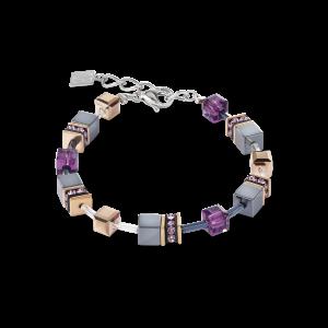 Coeur De Lion GeoCUBE Bracelet - Blue Brown Lilac 2839300740