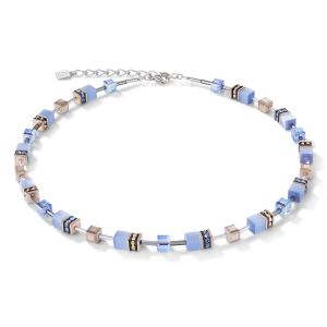 Coeur De Lion GeoCUBE Necklace - Light Blue 4016100720