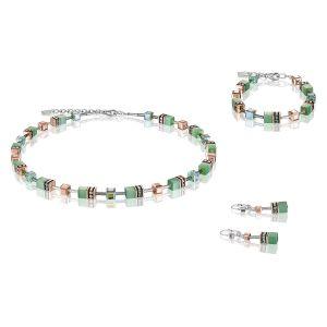Coeur de Lion Geocube Earrings - Light Green