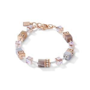 Coeur De Lion GeoCUBE Bracelet - Apricot Botswana Agate 4017300230