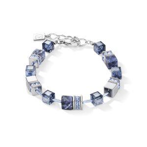 Coeur De Lion GeoCUBE Bracelet - Blue Sodalite and Hematite 4017300700