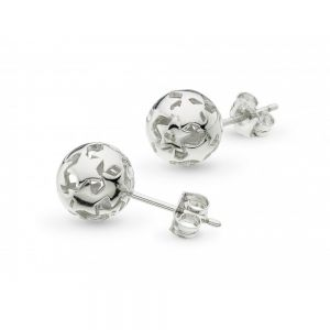 Kit Heath Stargazer Nova Orb Stud Earrings Silver 40217HP027