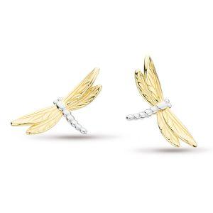 Kit Heath Blossom Flyte Dragonfly Stud Earrings