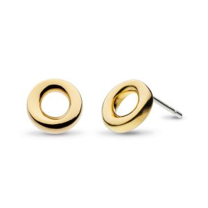 Kit Heath Bevel Cirque 9mm Stud Earrings - Gold Plated 4189GRP