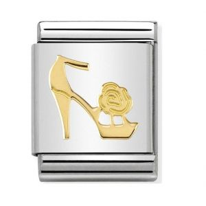 NOMINATION COMPOSABLE BIG DAILY LIFE in stainless steel with 18k gold Shoe Versailles