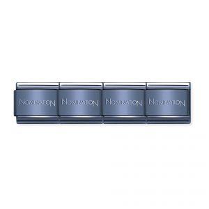 Nominations Composable Classic Branded Blue Coloured Base Bracelet - 030001_SI_016