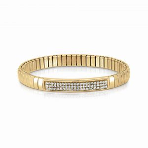 NOMINATION Steel XTE bracelets and Swarovski Fin. YELLOW GOLD White