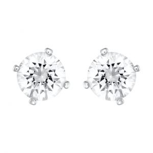 Swarovski Attract Crystal Pearl Stud Earrings - White with Rhodium Plating 5183618