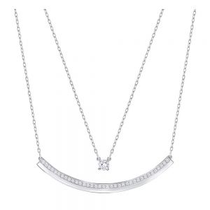 Swarovski Fresh Double Necklace - White with Rhodium Plating 5225444