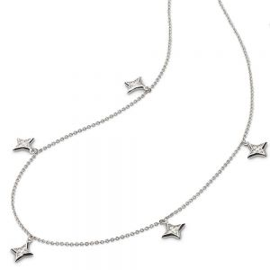 Kit Heath Empire Astoria Starburst CZ Stars Necklace
