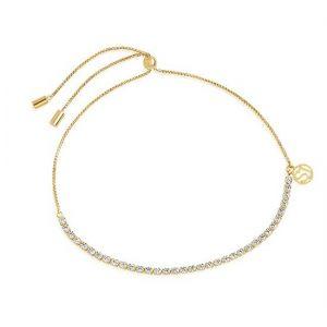 Sif Jakobs Ellera Tennis Bracelet - Gold with White Zirconia SJ-B42032-CZ-SG