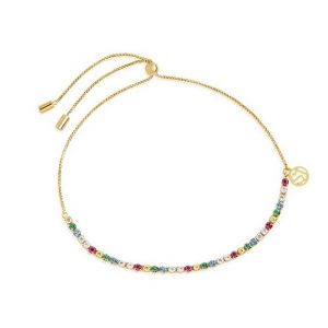 Sif Jakobs Ellera Tennis Bracelet - Gold with Multicolour Zirconia