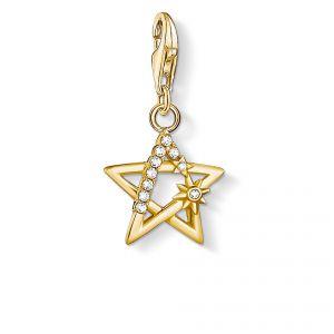 Thomas Sabo Charm Pendant -  Gold Open Star with Stones 1851-414-14