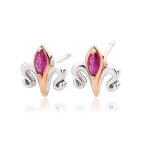Clogau Two Queens Ruby Earrings 3SALWSE2