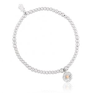 Clogau Daisy Affinity Bead Bracelet 3SBB44-S