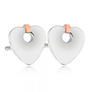 Clogau Cariad Heart Stud Earrings