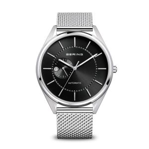 Bering Men's Automatic Watch - Brushed and Polished Silver with Black