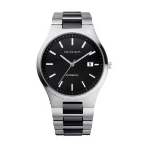 Bering Men's Automatic Watch - Silver and Black