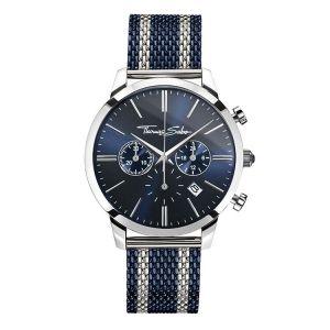 Thomas Sabo Men's Rebel Spirit Chrono Watch - Mesh Bico Blue WA0285-281-209