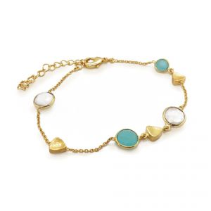 Sarah Alexander Skye Multi Gemstone and Chain Bracelet
