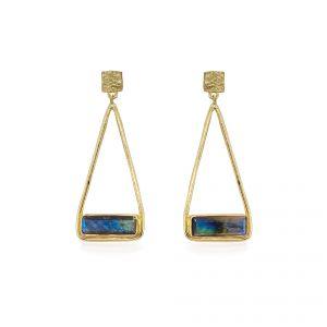 Sarah Alexander Primavera Labradorite Triangle Drop Earrings
