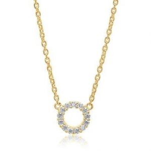 Sif Jakobs Biella Piccolo Necklace - Gold with White Zirconia SJ-C337-CZYG