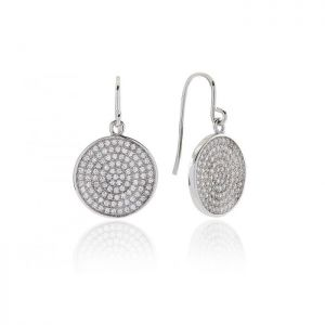 Sif Jakobs Este Drop Earrings - Silver with White Zirconia SJ-E0085-CZ