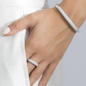 Sif Jakobs Melazzo Ring - Silver with White Zirconia SJ-R015-CZ