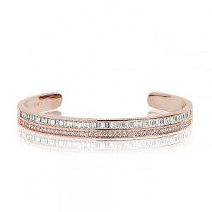 Sif Jakobs Corte Bangle - Gold with White Zirconia SJ-BG1028-CZYG
