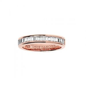 Sif Jakobs Corte Baguette Ring - Rose Gold with White Zirconia SJ-R11240-CZRG