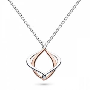 Kit Heath Entwine Alicia Small Rose Gold Necklace