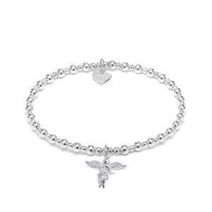 Annie Haak Mini Orchid Silver Charm Bracelet - My Guardian Angel