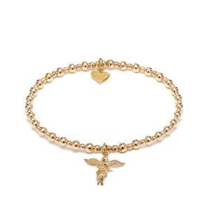 Mini Orchid Gold Charm Bracelet - My Guardian Angel