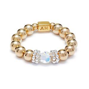 Annie Haak Seri Crystal Gold Ring