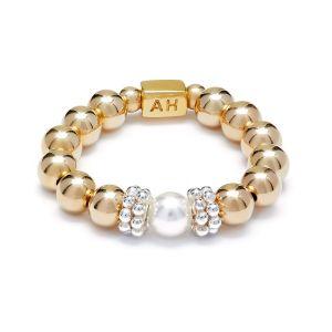 Annie Haak Seri Pearl Gold Ring