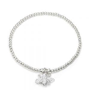 Annie Haak Santeenie Tiny Bee Silver Charm Bracelet