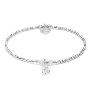 Annie Haak Bulu Crystal Silver Charm Bracelet - 18